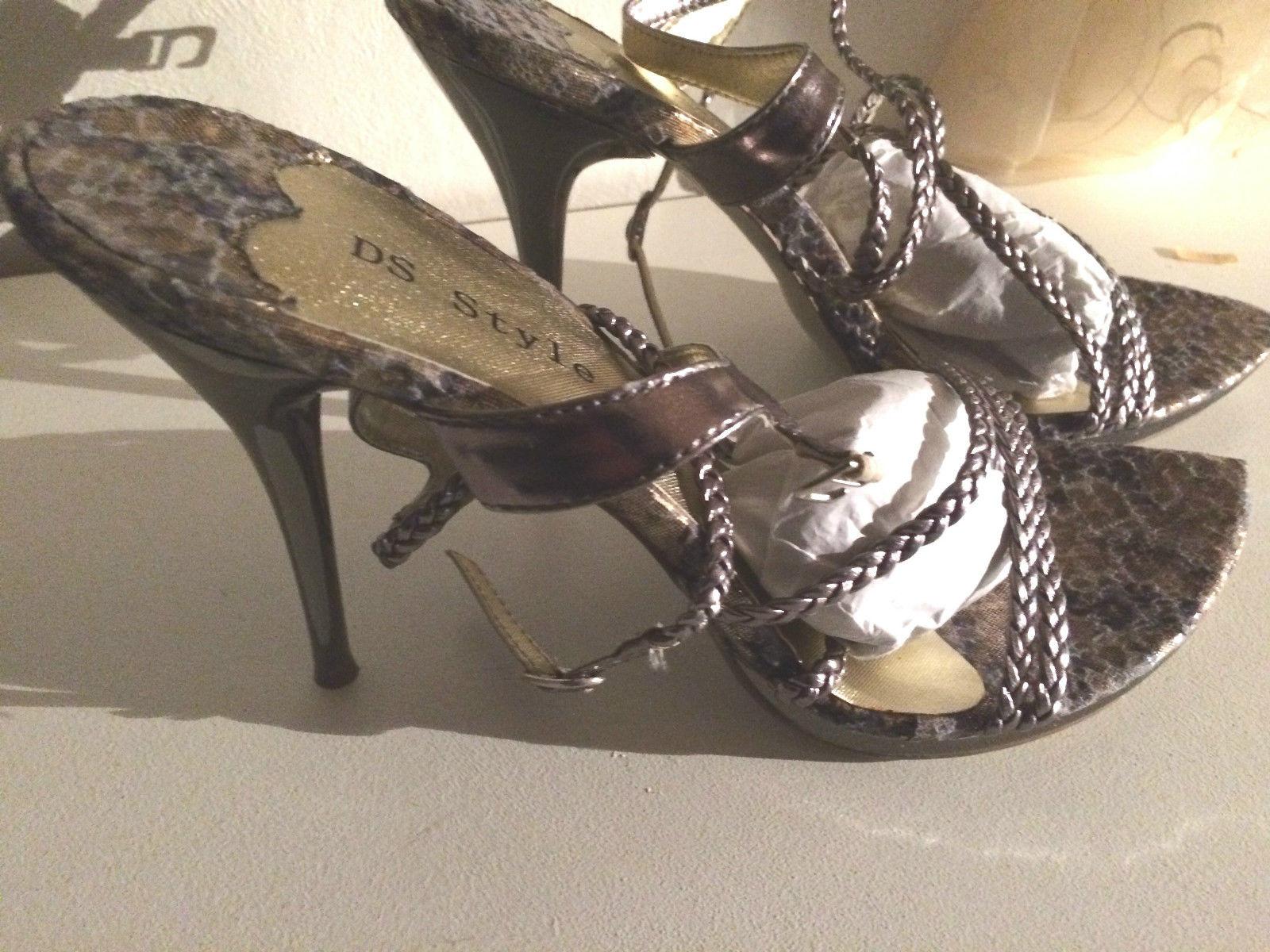 ds style high heels pumps leo design silber beige grau. Black Bedroom Furniture Sets. Home Design Ideas