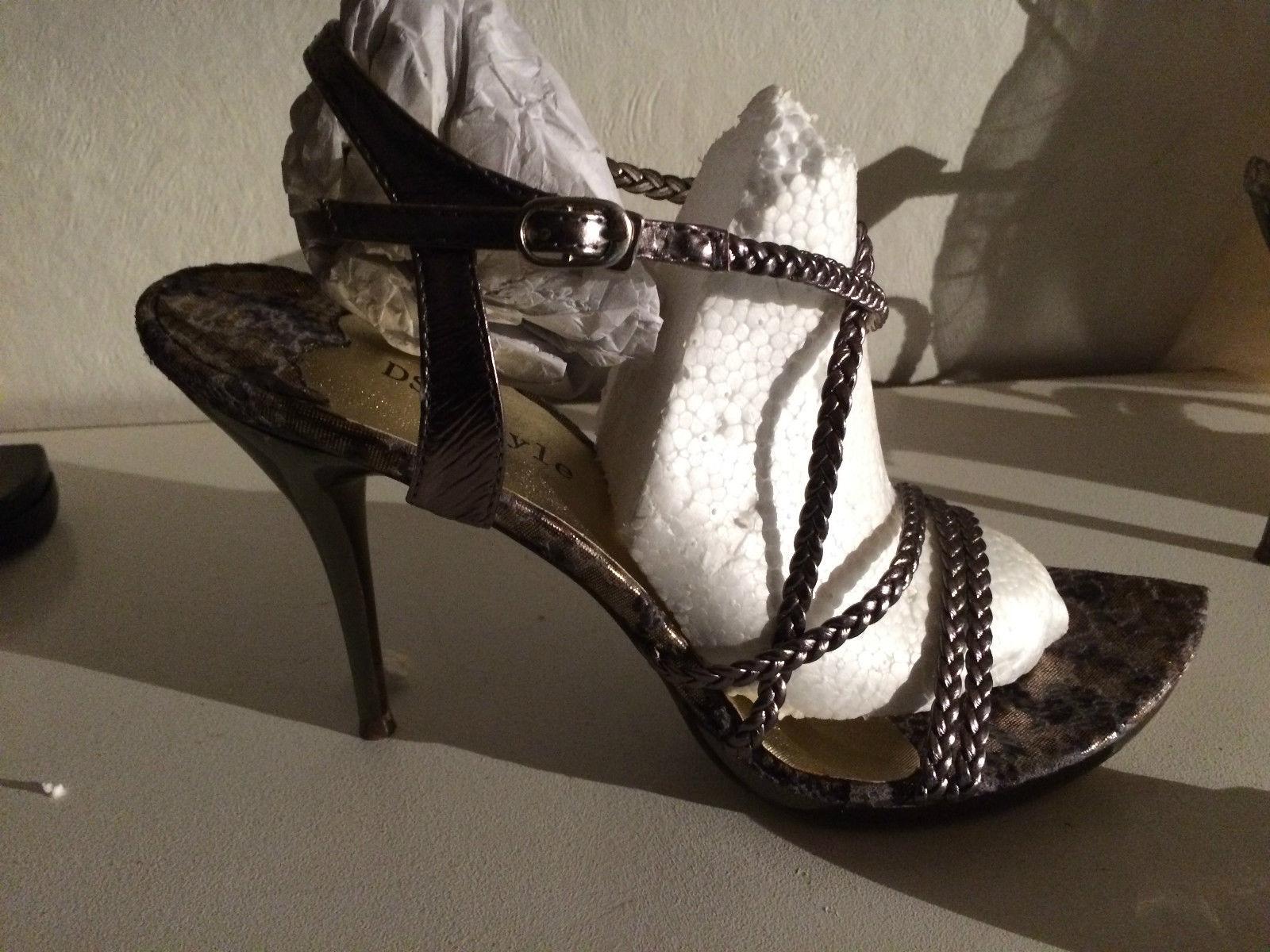 82c25a7208296 DS Style High Heels, Pumps, Leo Design silber beige grau Gr 41 Neu