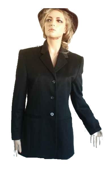 100% Cashmere Blazer Made in Italy kuschelweich schwarz Gr 36 NEU