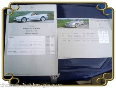 Mercedes Benz Roaster SL Baureihe 230 2001 (2831)