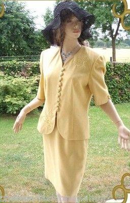 Hardob Kostüm Gelb Gold Knöpfe Gr. 38 (3022)