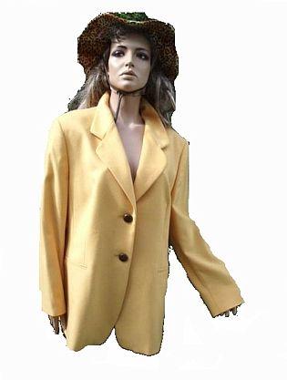Mondi Blazer gelb 100% Schurwolle Gr 46 (3455)