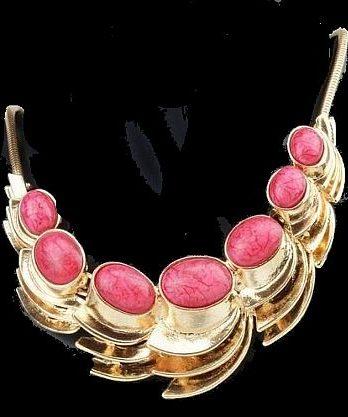Halskette Collier Gold Pink Neu (8354)