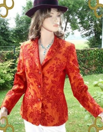 AE Prestige Elegance Paris Blazer 100% Seide gr 36 NEU (5898)