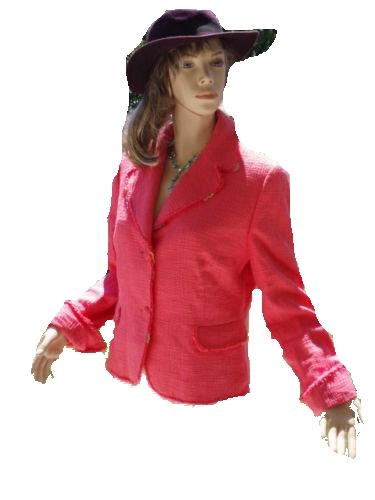 Apriori Blazer rosa bunt Seide Gr 40 - 42 (5659)
