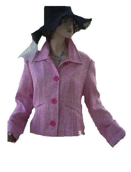 Infinity Blazer rosa weiß Gr. 42 (5651)