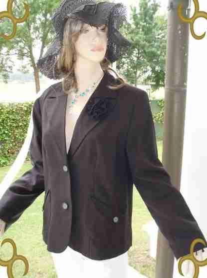 Aguzzo Blazer elegance schwarz Gr. 44 NEU (5490)
