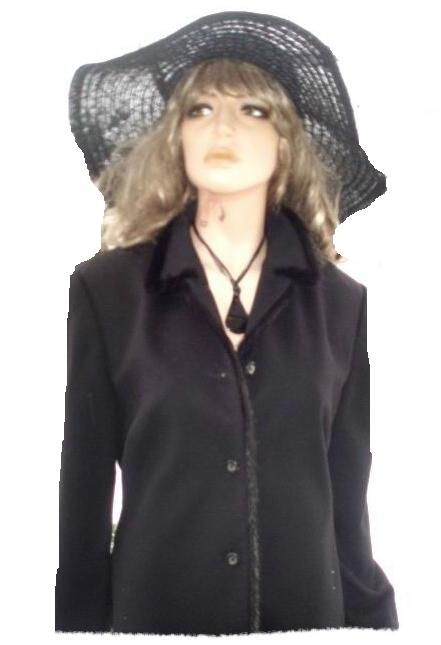 Echt Pelz Kostüm schwarz kuschelweich von Frans Haushofer Gr 42 NEU (1999)