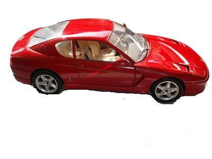 Ferrari 456 GT 1992 Cod.3046 1:18 Bburago rot (4818)