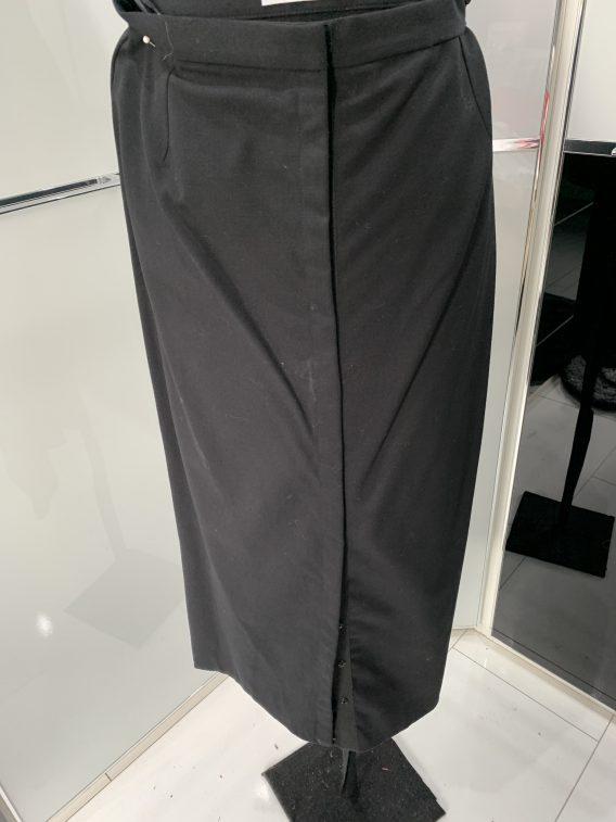 Dolce & Gabbana Kostüm Rock schwarz Knopfrock Gr 38 - 40