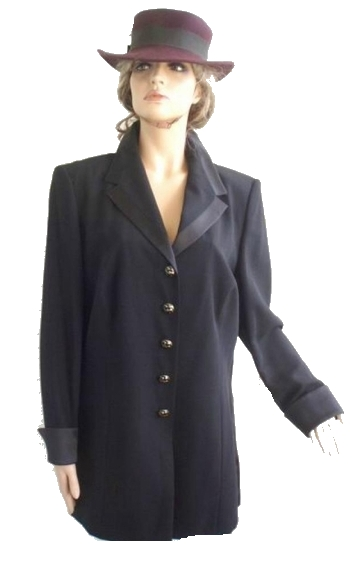 Frans, Haushofer, Smoking, Blazer, Satin, Revers, Gr 46, NEU (5508)