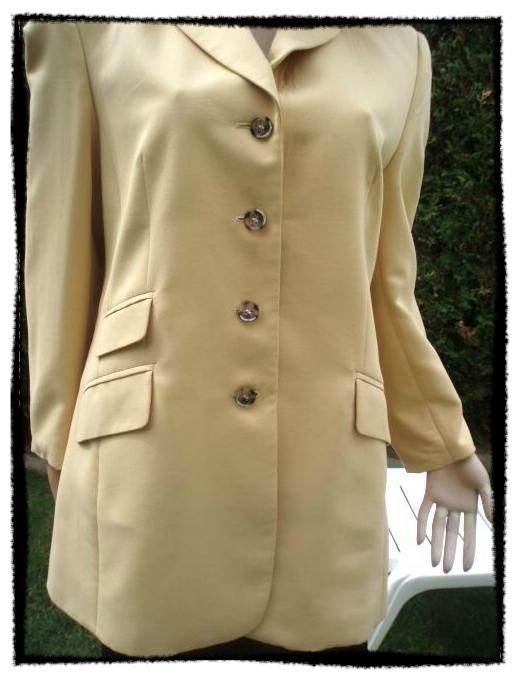 heißer verkauf authentisch heiß-verkauf echt neu kaufen HMC Hucke Mode Hosenanzug 3 tlg gelb beige Gr 40
