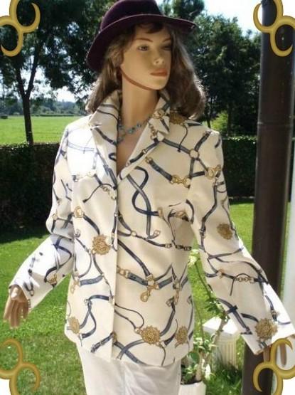 jake´s blazer weiß bunt gr 44 (8240)   chelsea-fashion-glamour