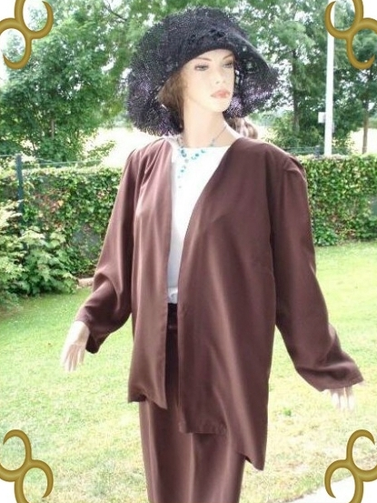 Jean Claire Kostüm Kleid + Jacke Gr. 44 (3048)
