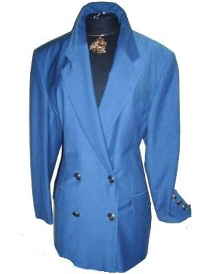 Lady H. Blazer Schurwolle blau Gr. 44 / 22 (5607)