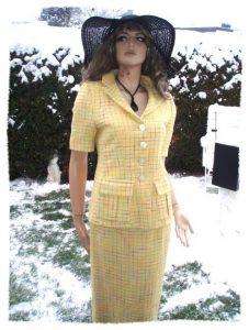 Laurenza by Renzo Sommer Kostüm gelb bunt Gr 38 (5952)