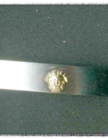 Medusa Edelstahl Kautschuk Armarmband NEU (9653)