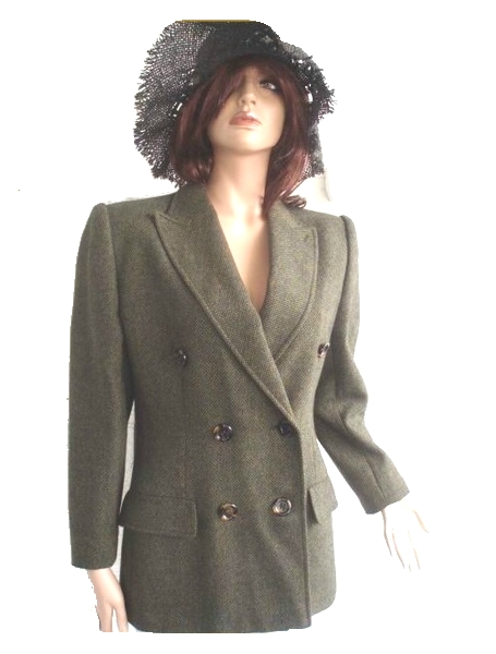 Valentino Blazer Miss V schwarz grün Gr. 40 (5793)