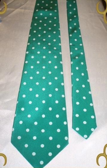 Trussardi Krawatte 100% Seide grün weiß * NEU* (1044[10])