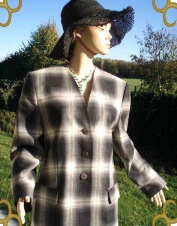 Givenchy Blazer grau weiß Gr. 42 (5596)