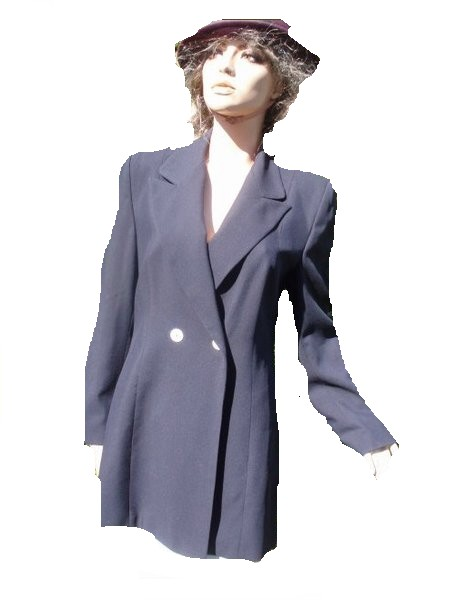 Prestige Elegance Blazer lang dunkelblau Gr 38
