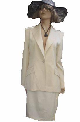 Renzo Kostüm creme Hochzeit Standesamt Gr 40 (M 3400)