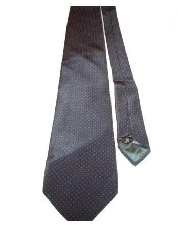 Trussardi Krawatte 100% Seide blau rot