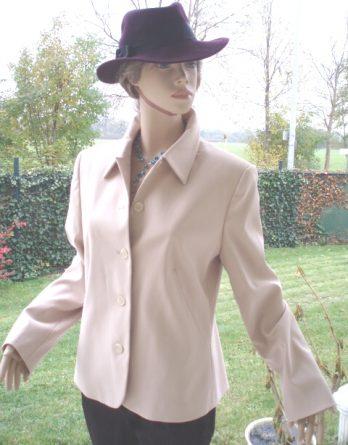 Vivian-Caron-Kostüm-Blazer-beige-Gr-44