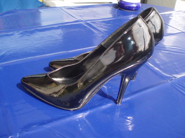 World, of, Glamour, Lack, High Heels, schwarz, Gr 39 ,
