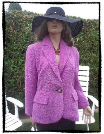 AE Prestige Elegance Paris Blazer rosa kuschelweich Gr 42 (2794)