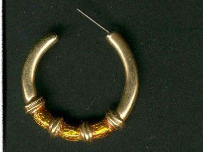 Edle große Ohrringe Creolen Gold QV gestempelt (3370[1])