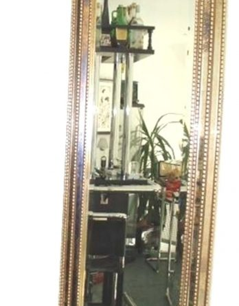 Flur Spiegel Dekospiegel Flur Dekoration Gold Barock Antik Holz 45x135(
