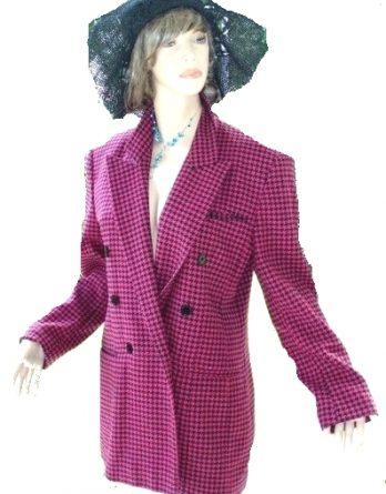 Mondi Blazer Wolle / Kaschmir Cashmere Pink schwarz Gr 40 (1010)