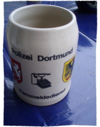 Polizei Dortmund Bierkrug Krug Humpen Fernmeldedienst (30[2])